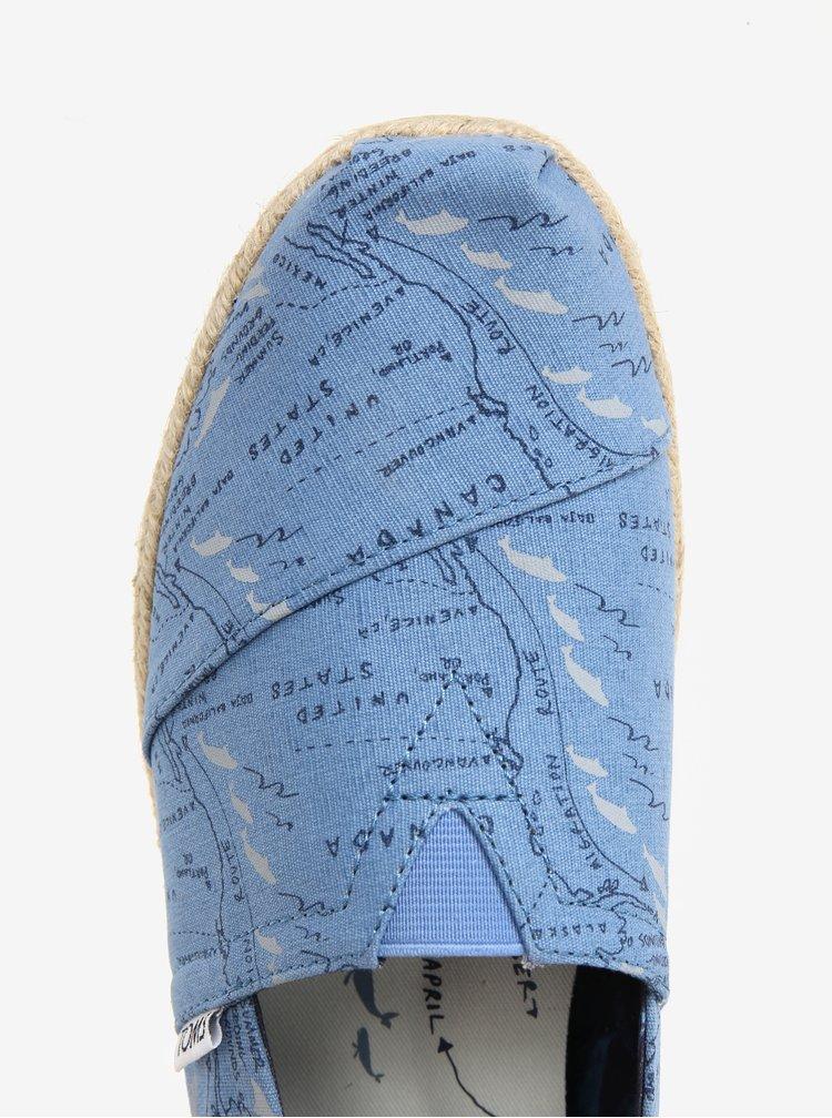 Modré vzorované pánské espadrilky TOMS