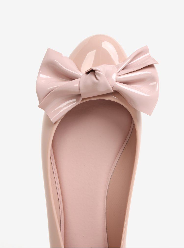 Růžové lesklé baleríny s mašlí Melissa Doll