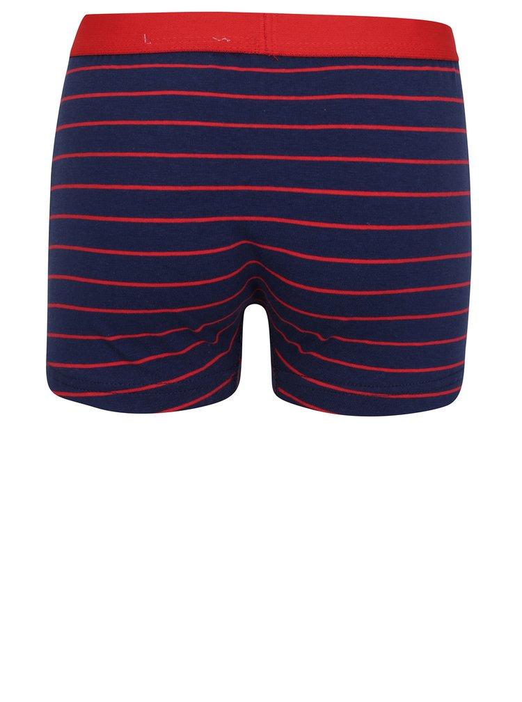 Sada tří klučičích boxerek s potiskem v tmavě modré a šedé barvě 5.10.15.