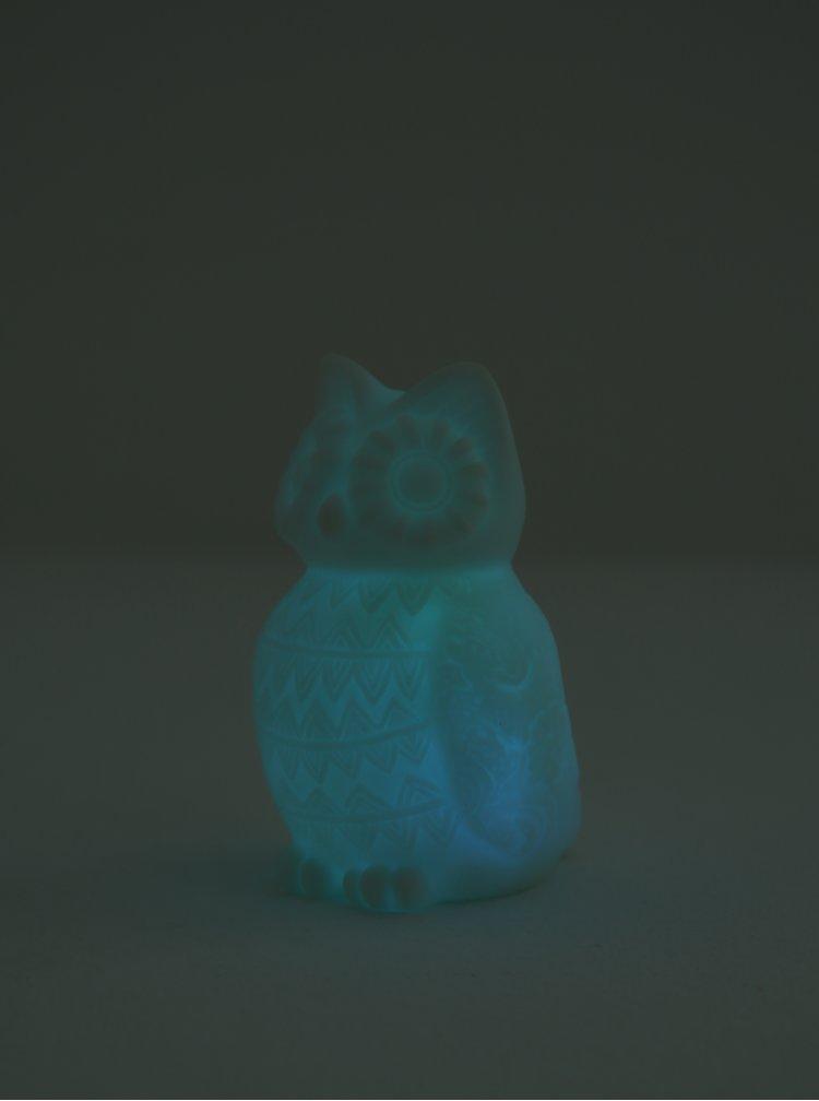 Bílá LED lampička ve tvaru sovy CGB