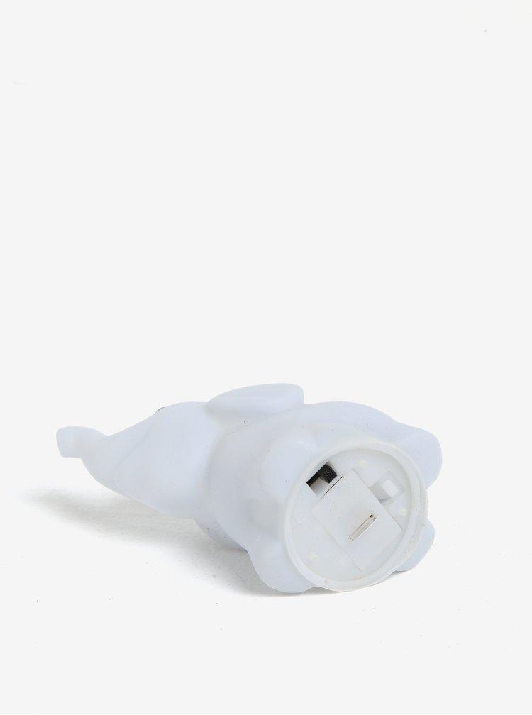 Bílá LED lampička ve tvaru slona CGB