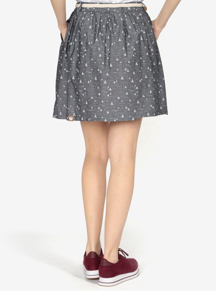 Tmavě šedá vzorovaná sukně s páskem Ragwear Mare B