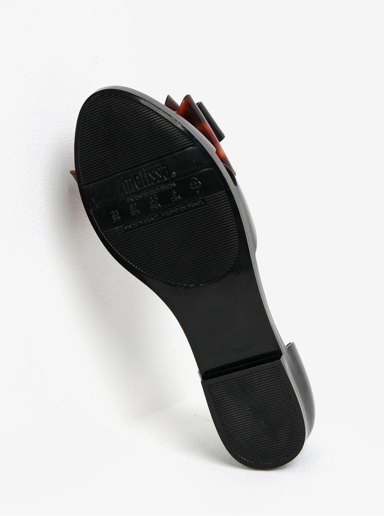 Černé sandály s hnědou mašlí na špičce Melissa Seduction