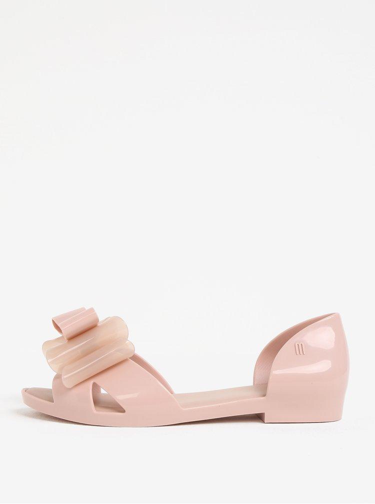 Světle růžové sandály s mašlí na špičce Melissa Seduction