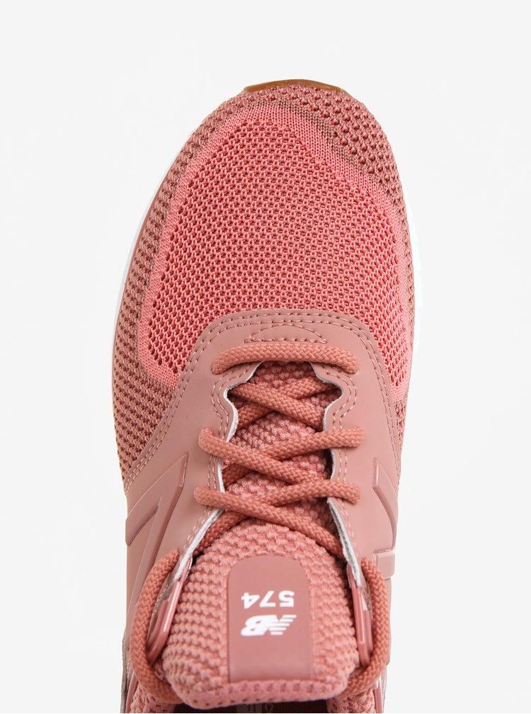 Starorůžové dámské tenisky New Balance WS574