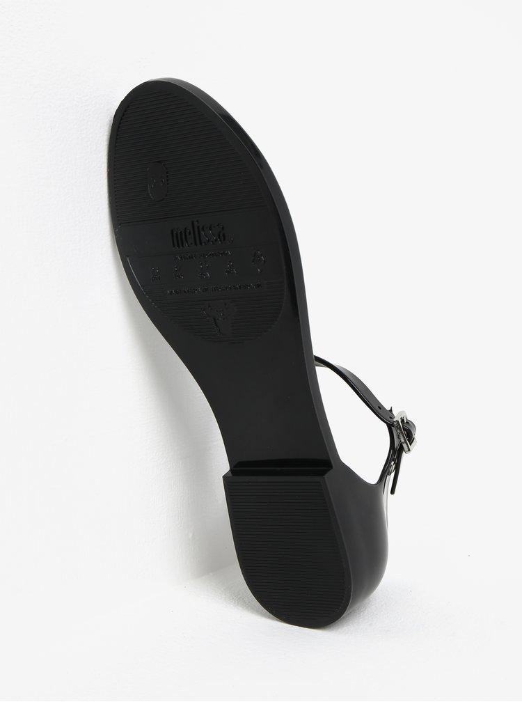 Černé sandály s přezkou Melissa Honey