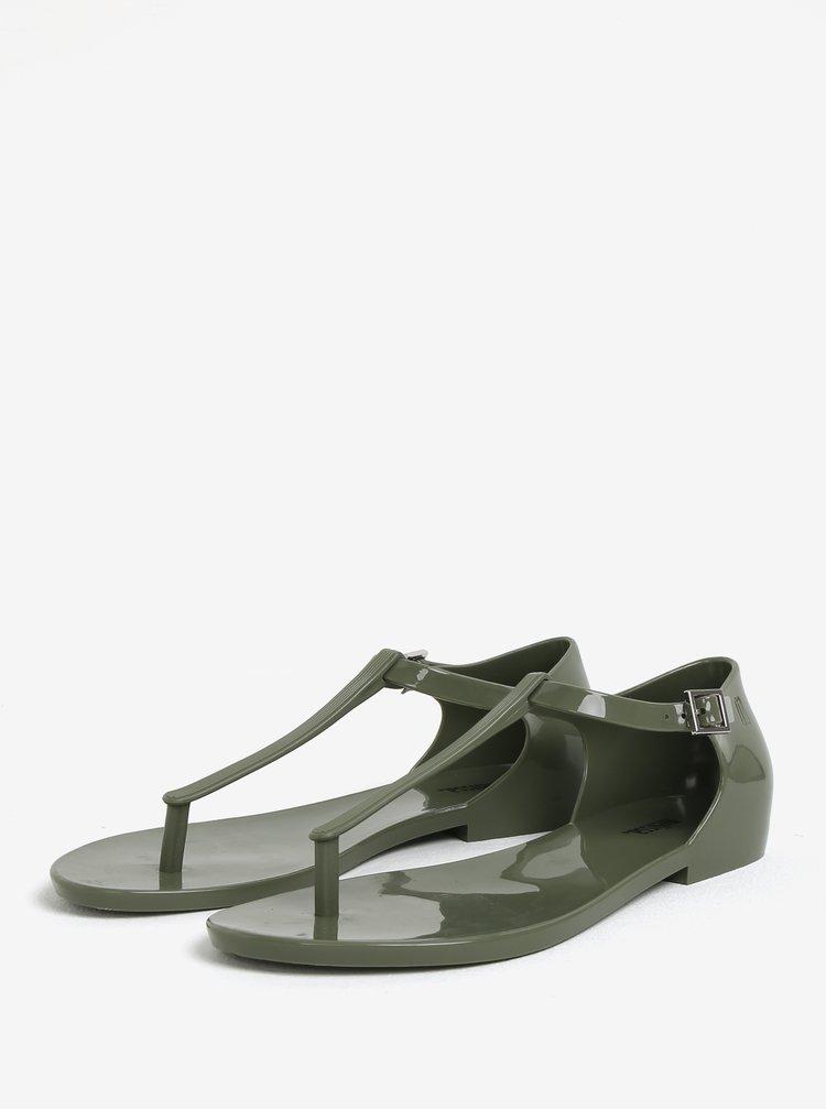 Khaki sandály s přezkou Melissa Honey
