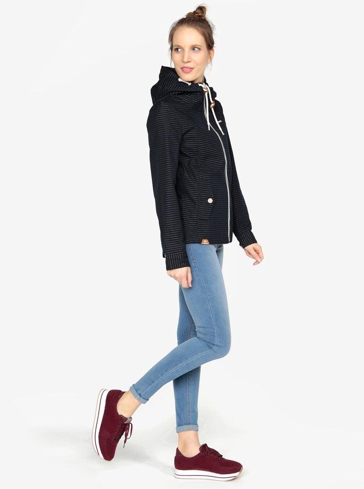 Tmavě modrá pruhovaná bunda Ragwear Monade Stripes