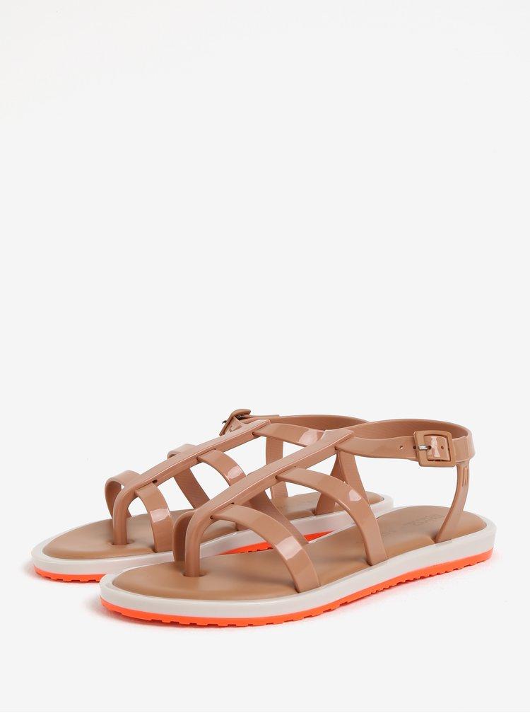 Světle hnědé páskové sandály Melissa Caribe Verao
