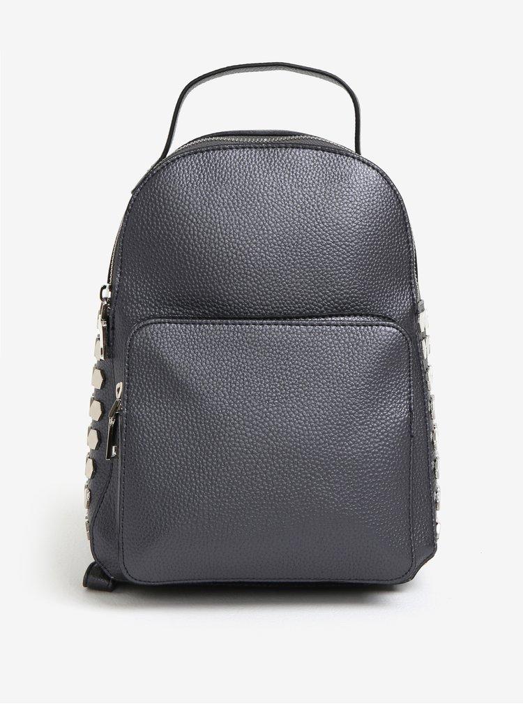 Šedý lesklý batoh MISSGUIDED