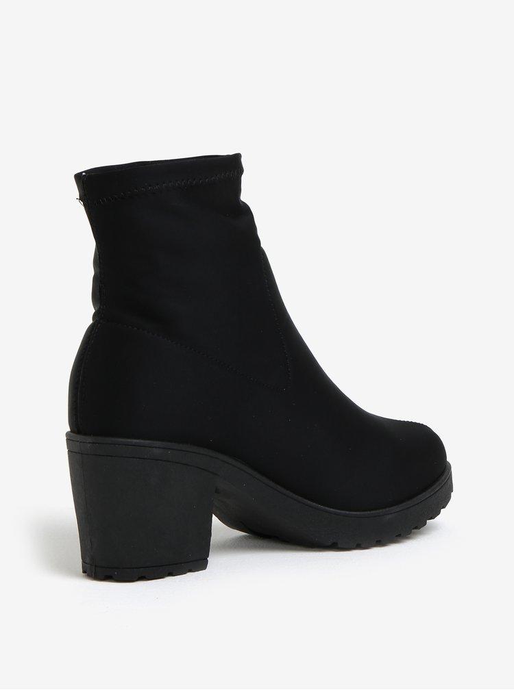 Černé kotníkové boty MISSGUIDED
