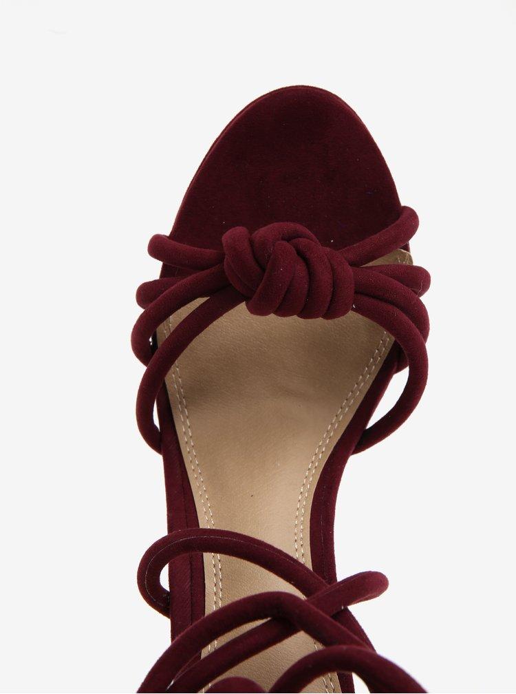 Vínové sandálky v semišové úpravě MISSGUIDED