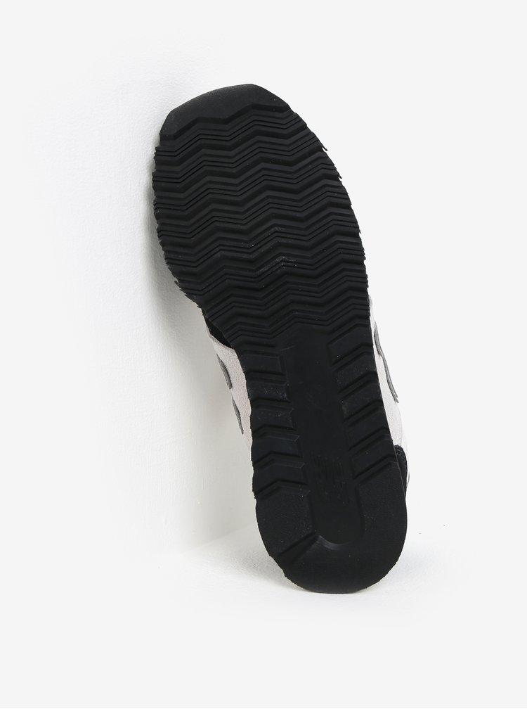 Černo-krémové dámské tenisky se semišovými detaily New Balance WL520