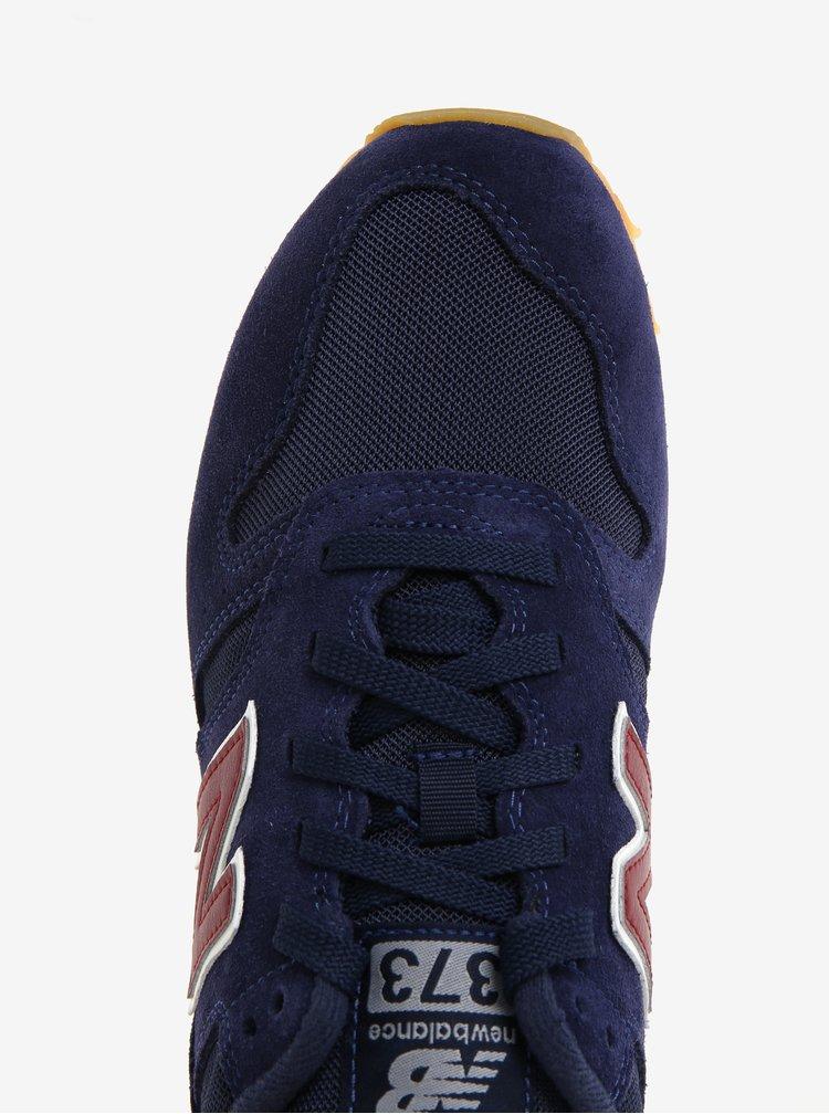 Tmavě modré pánské tenisky se semišovými detaily New Balance ML373