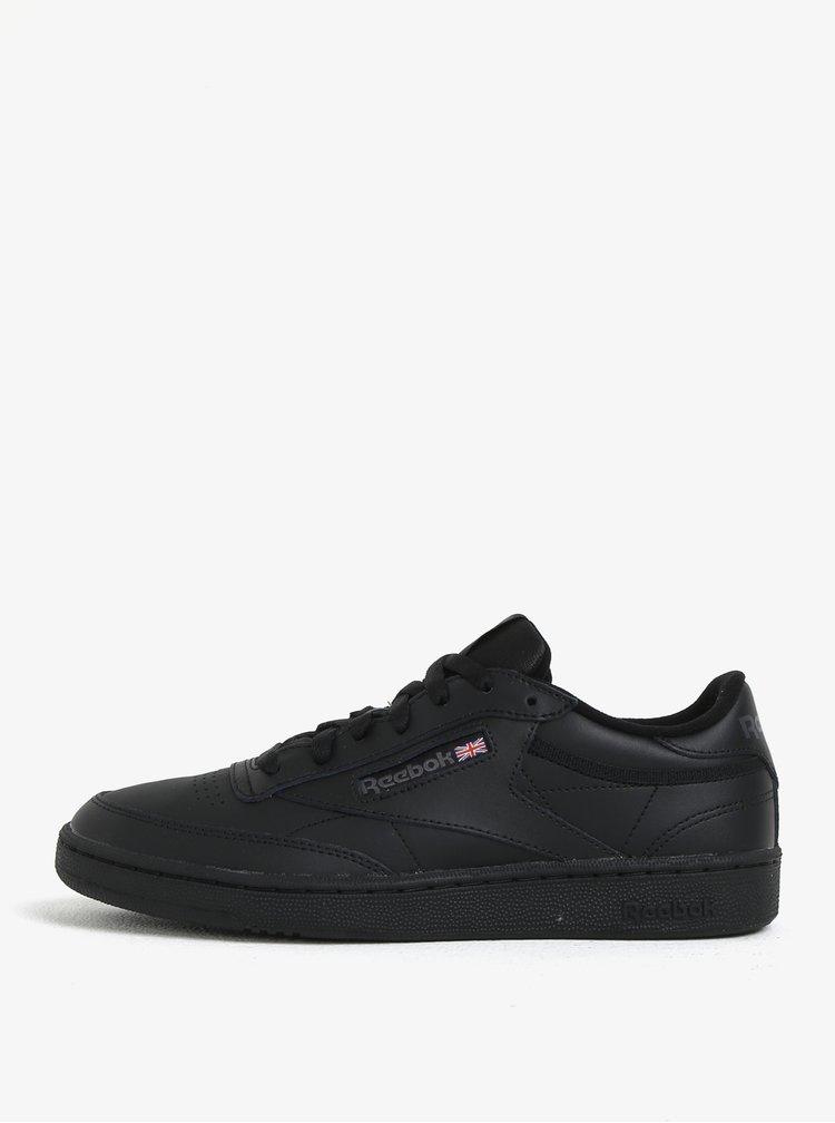 Černé kožené tenisky Reebok Club C 85