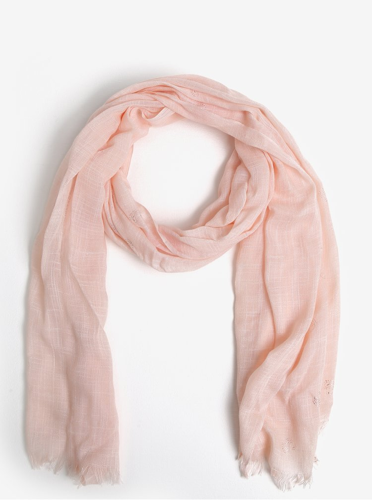 Světle růžový vzorovaný šátek Dorothy Perkins