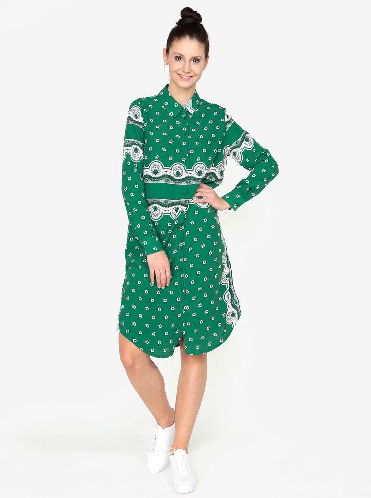 Zelené košilové šaty MISSGUIDED