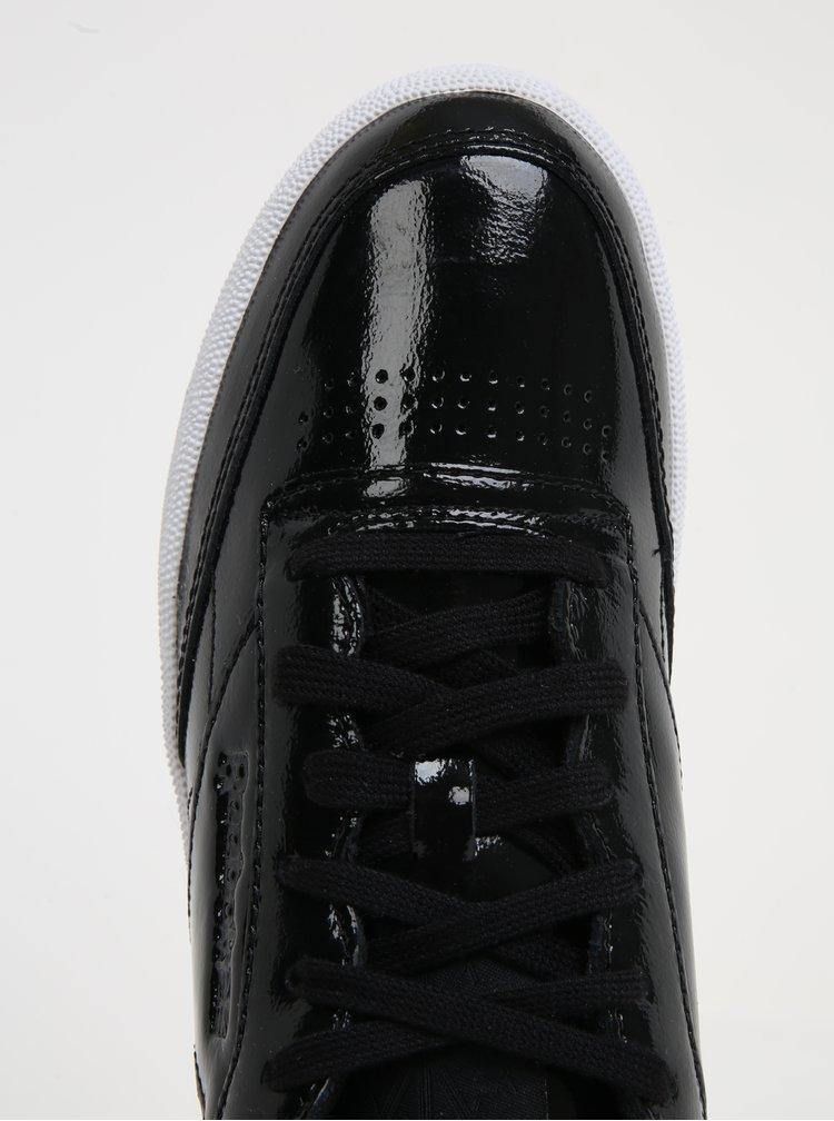 Černé dámské kožené lesklé tenisky Reebok Club C 85