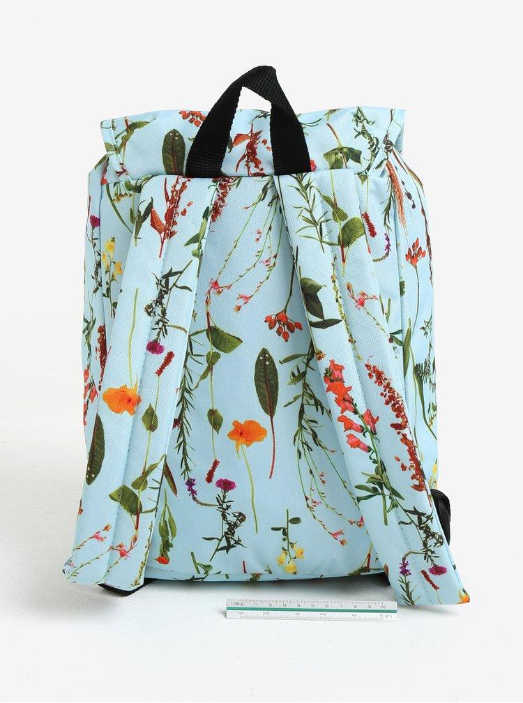 Modrý dámský květovaný batoh Eastpak Casyl 10,5 l