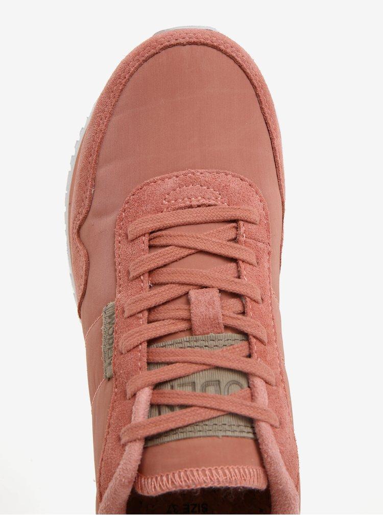 Pantofi sport corai cu detaliu metalic pentru femei Woden Nora II