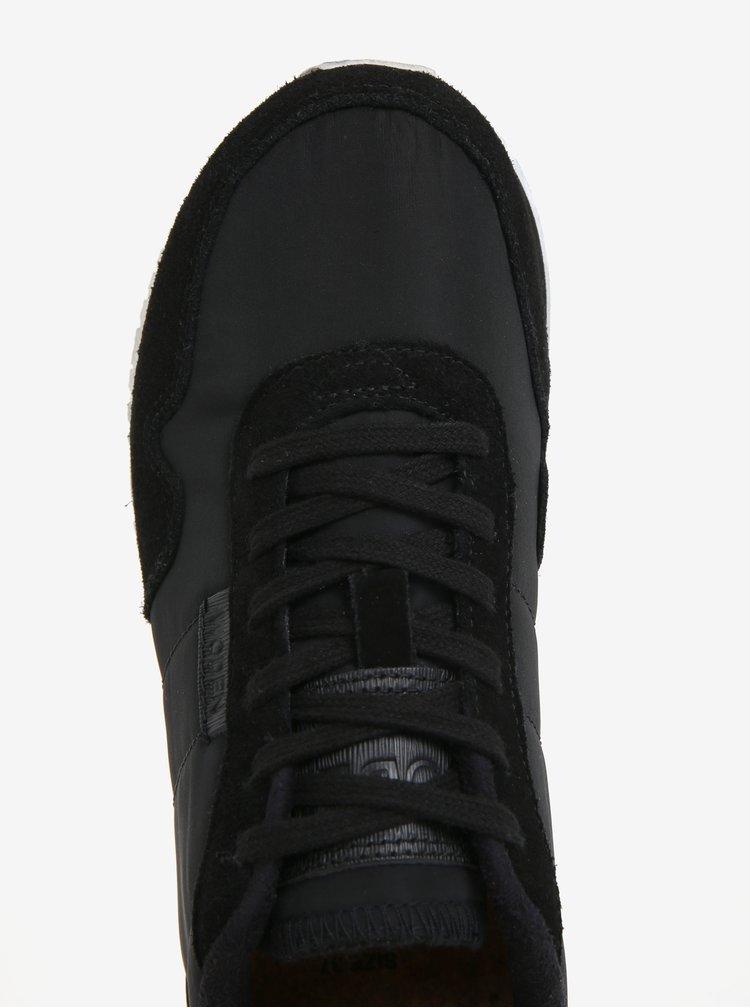 Černé dámské tenisky se semišovými detaily Woden Nora II