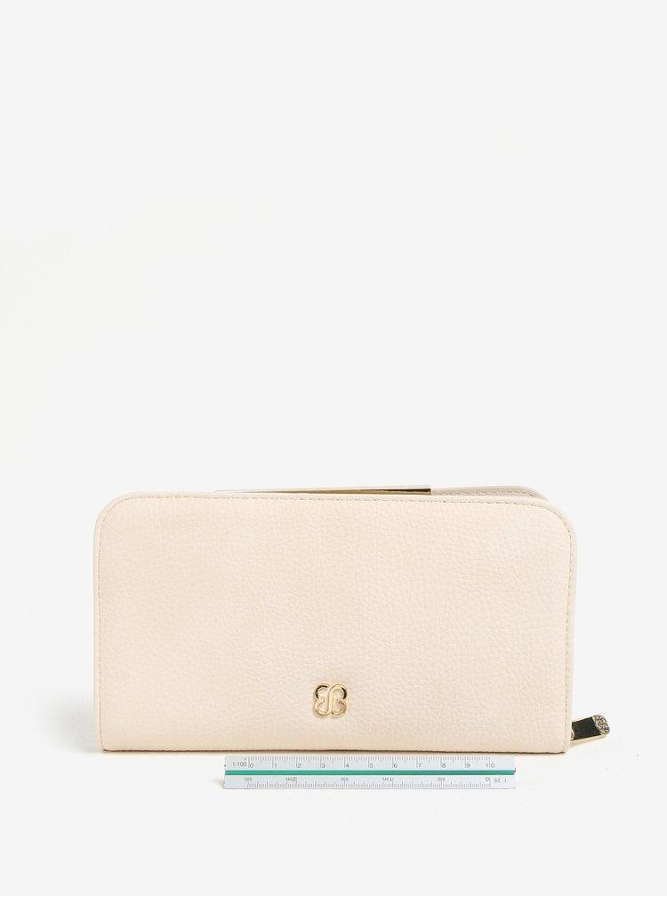 Krémová peněženka s prošívanými detaily Bessie London