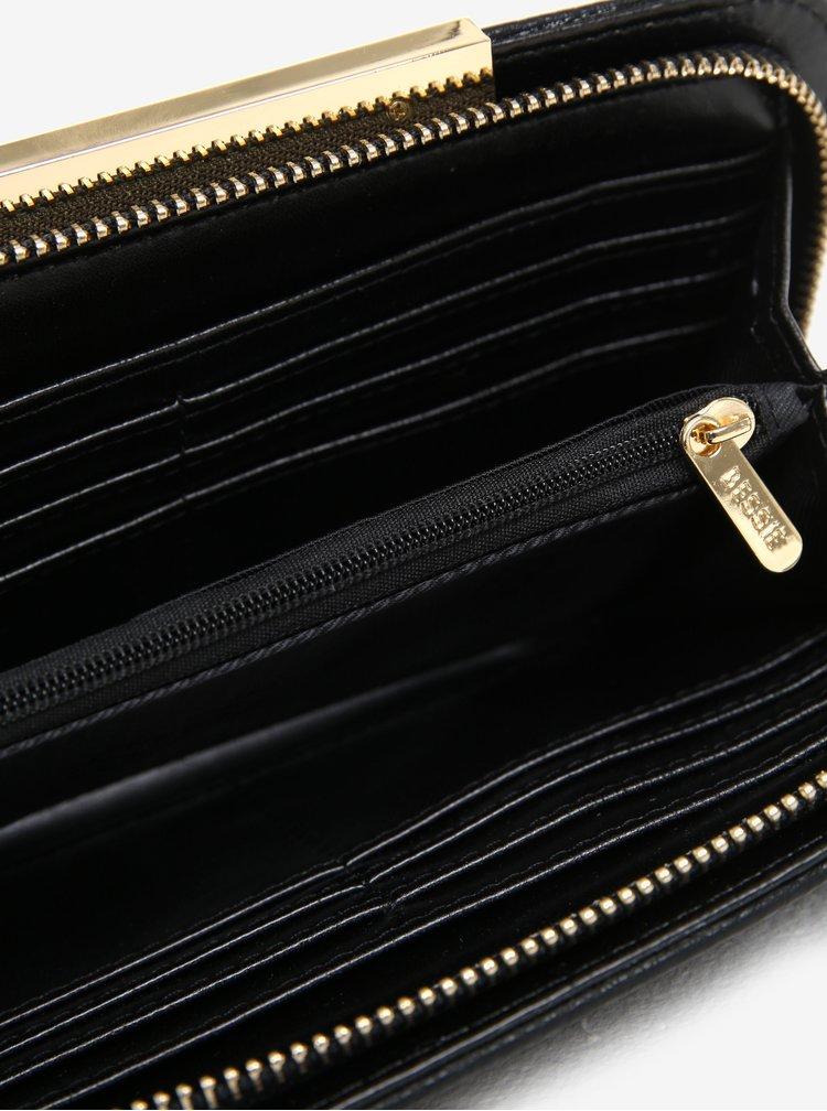 Portofel negru cu detalii decorative - Bessie London