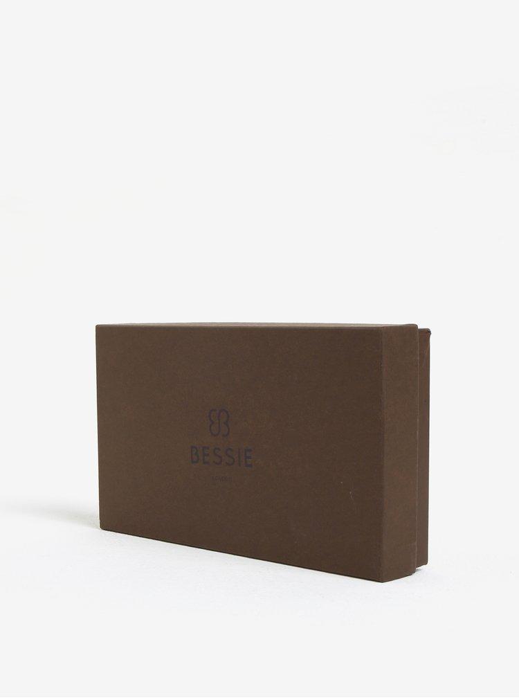 Žlutá peněženka s prošívanými detaily Bessie London