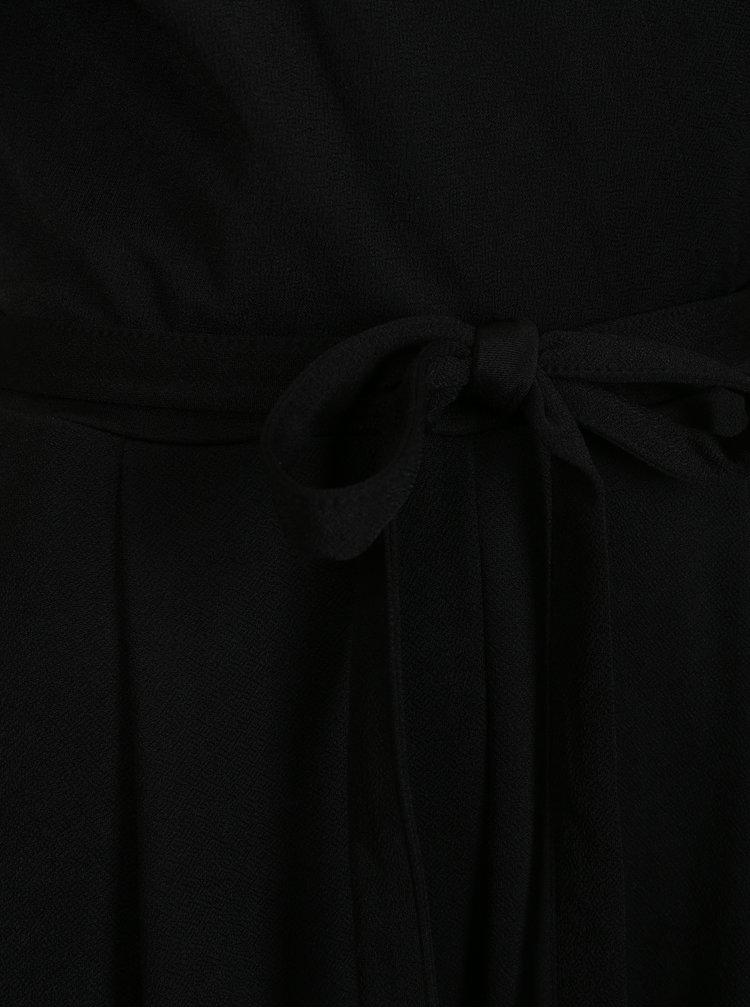 Salopeta neagra cu cordon in talie Dorothy Perkins