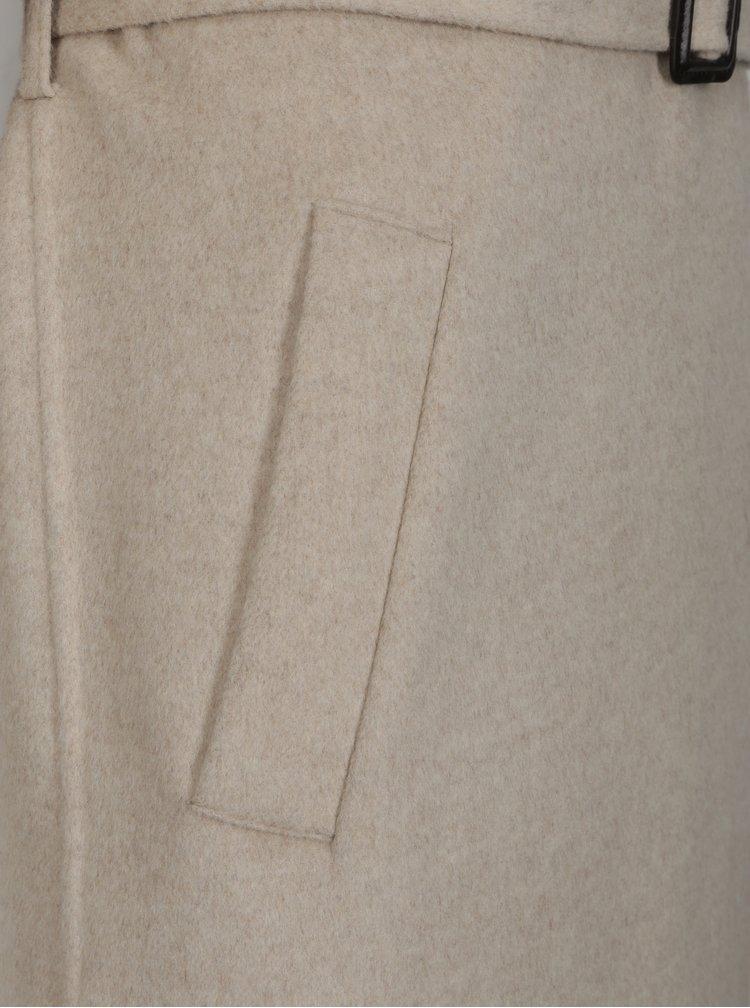 Béžový žíhaný kabát Selected Femme Tana