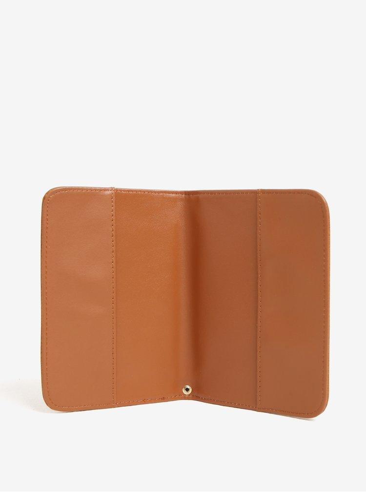 Hnědá velká peněženka s pouzdrem na doklady Bessie London