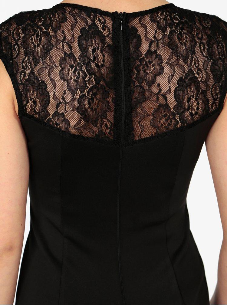 Černé maxišaty s krajkou na zádech a v dekoltu AX Paris