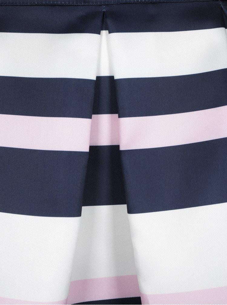 Bílo-modrá pruhovaná midi sukně Dorothy Perkins