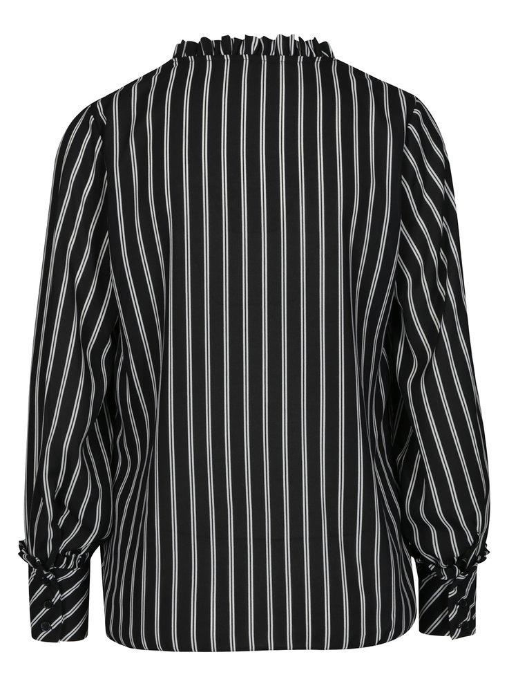 Černo-bílá pruhovaná halenka Dorothy Perkins