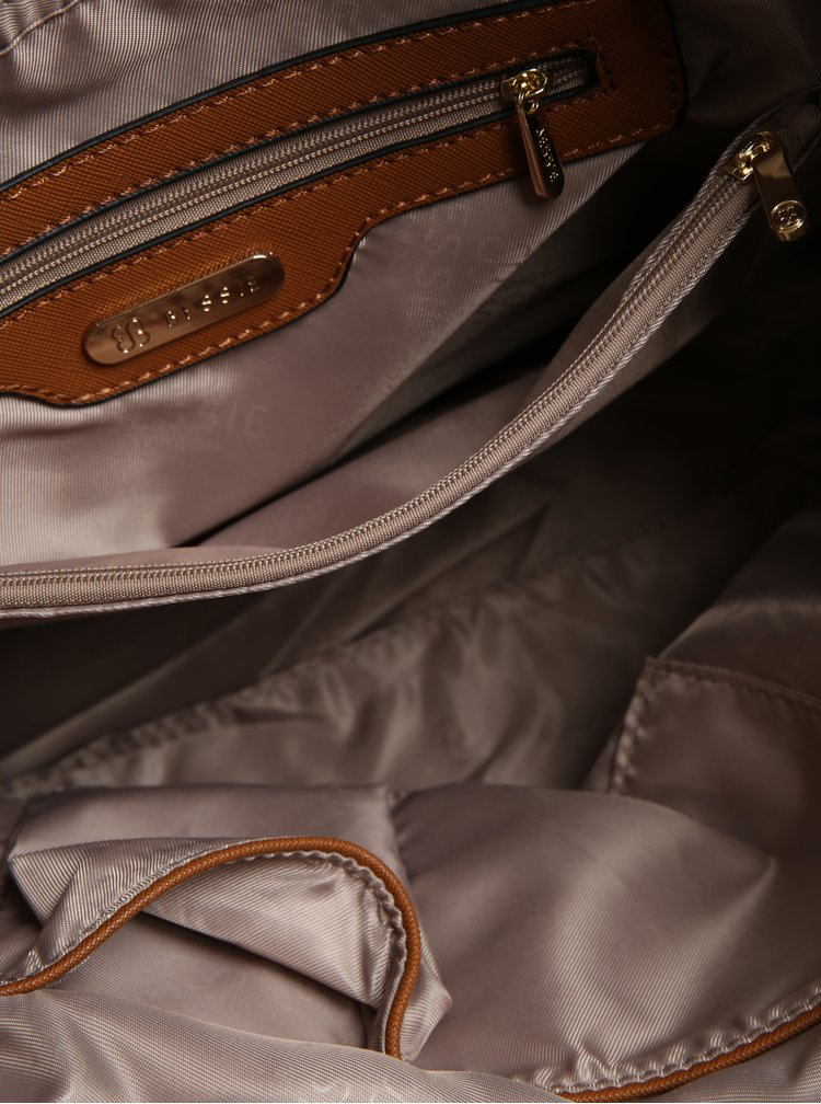 Geanta bleumarin cu manere si portofel exterior - Bessie London
