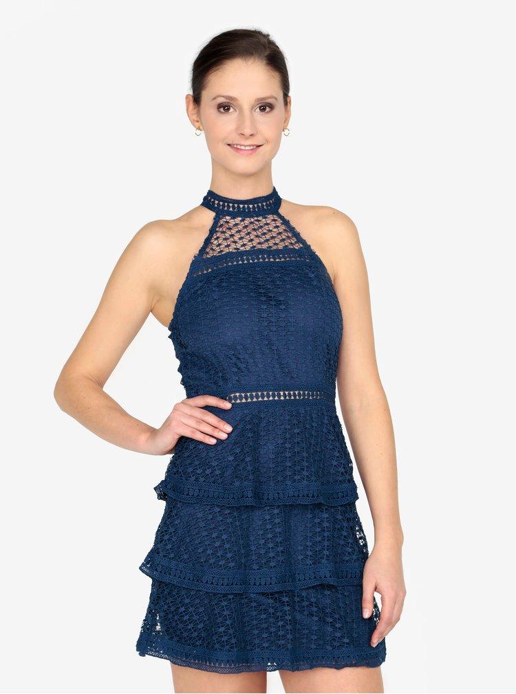 Tmavomodré šaty bez rukávov AX Paris