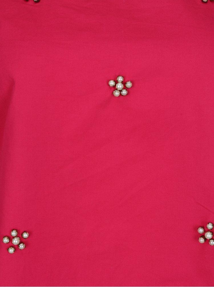 Růžová halenka s odhalenými rameny Dorothy Perkins