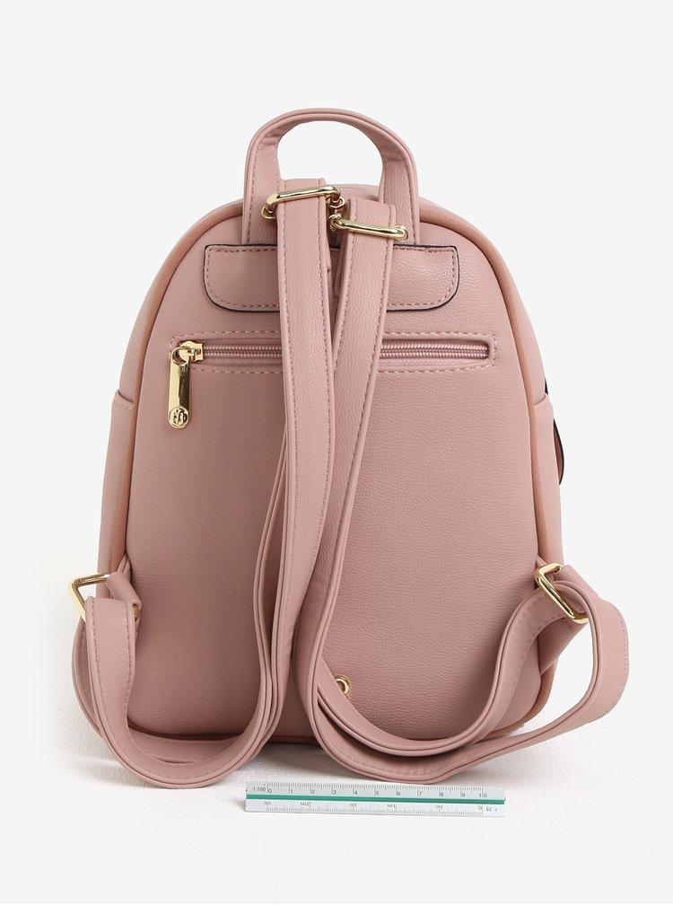 Svetloružový batoh s perforovanými detailmi Bessie London