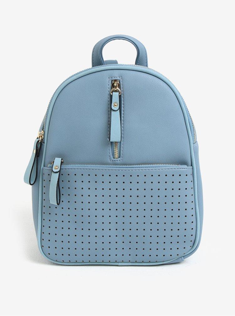 Světle modrý batoh s perforovanými detaily Bessie London
