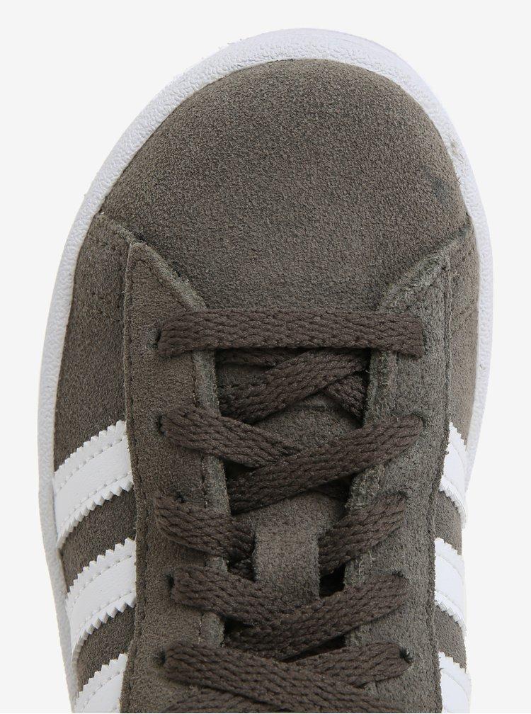 Khaki dětské semišové tenisky adidas Originals CAMPUS C