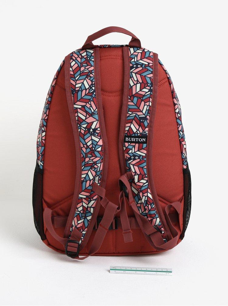 Cihlový holčičí vzorovaný batoh Burton Youth Day Hiker 20 l