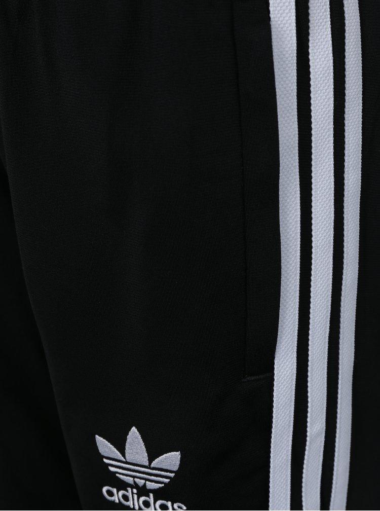 Černé klučičí tepláky s bílými pruhy adidas Originals