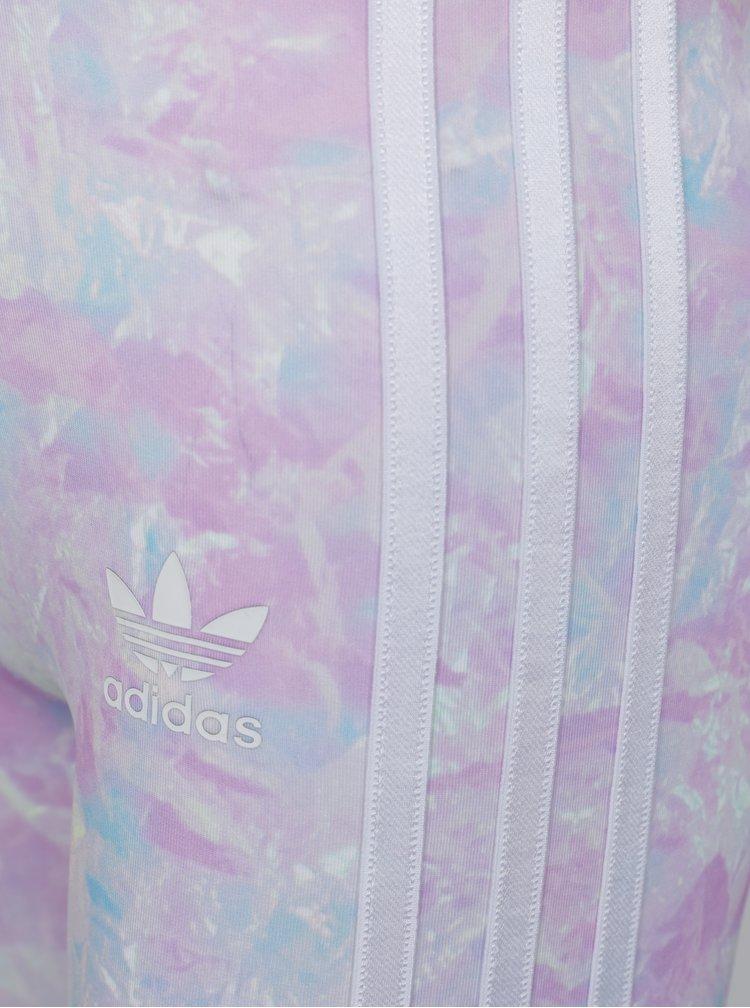 Modro-růžové vzorované legíny adidas Originals