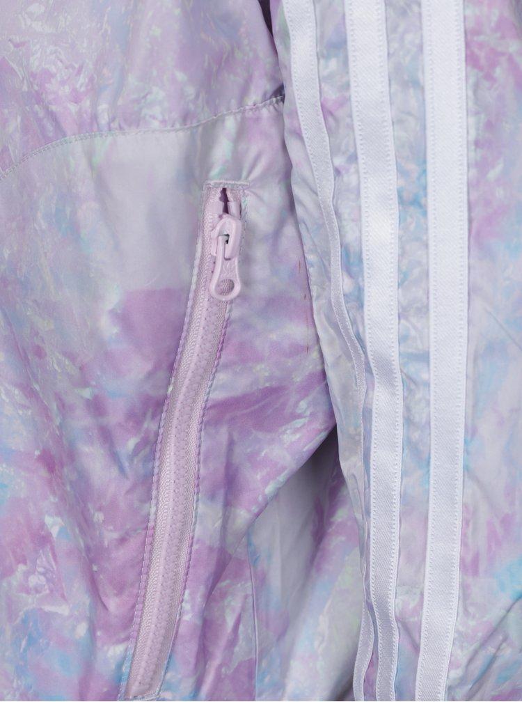 Šedo-růžový holčičí set bundy a legín adidas Originals