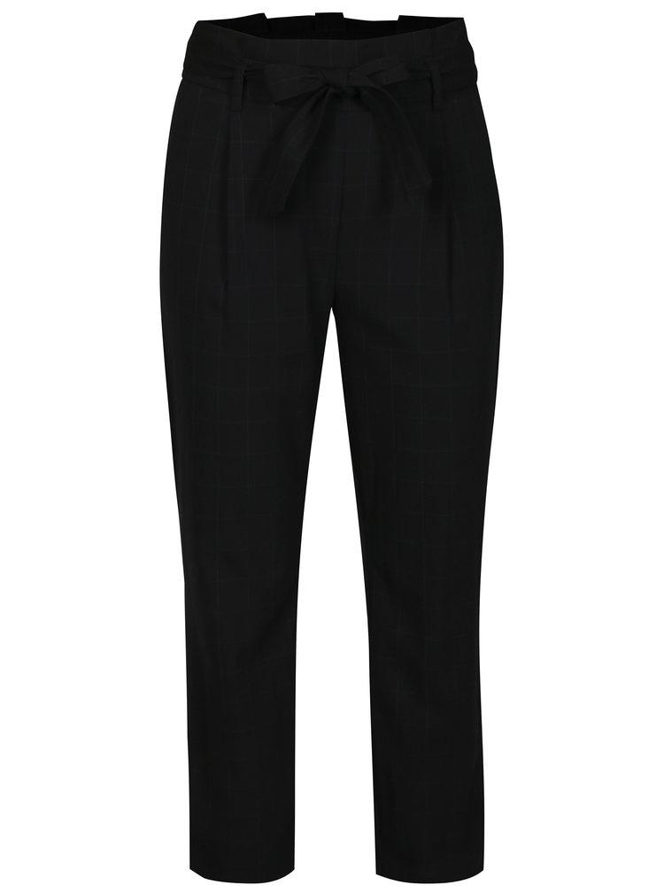 Černé kostkované kalhoty s páskem TALLY WEiJL