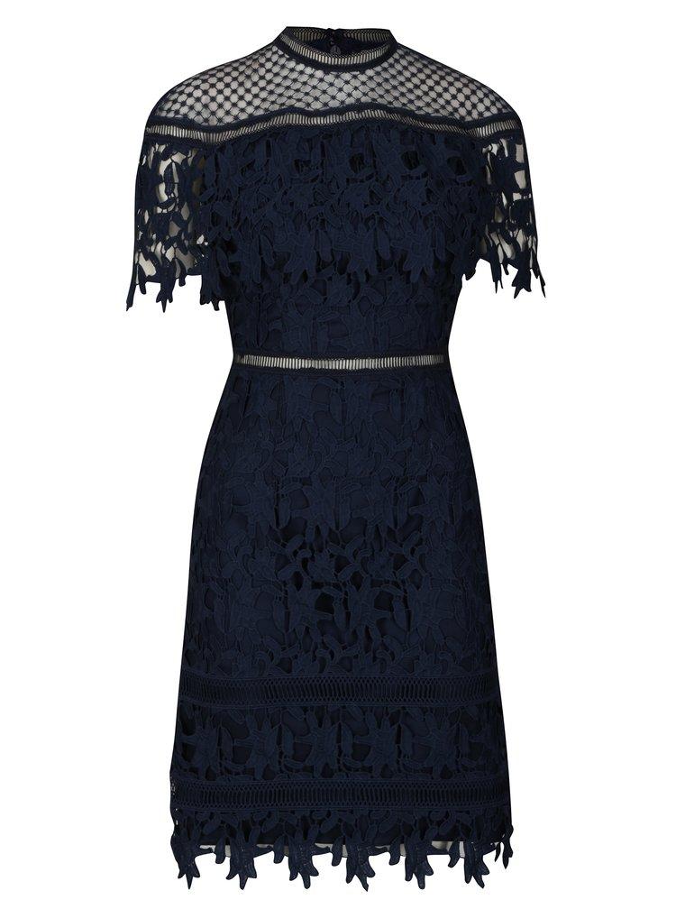 Tmavě modré krajkové šaty Chi Chi London Sassi