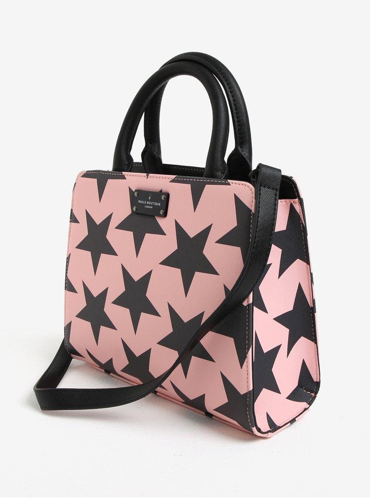 Šedo-růžová vzorovaná kabelka Paul´s Boutique Logan