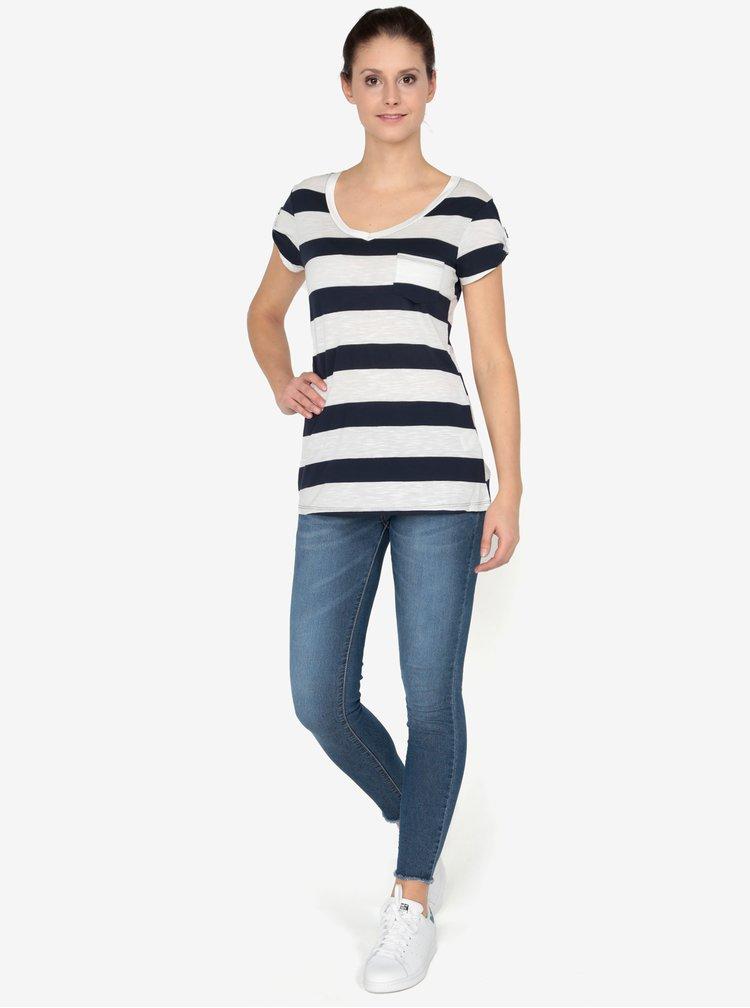 Krémovo-modré tričko s krátkým rukávem Haily´s Helen
