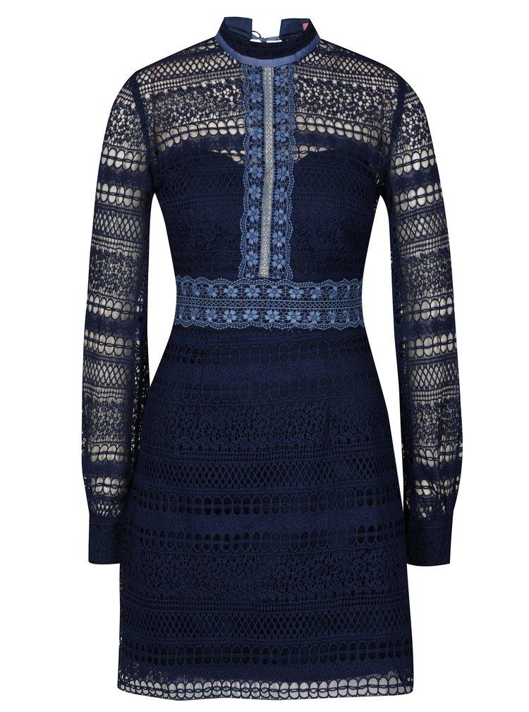 Tmavě modré krajkové šaty Chi Chi London Zosia