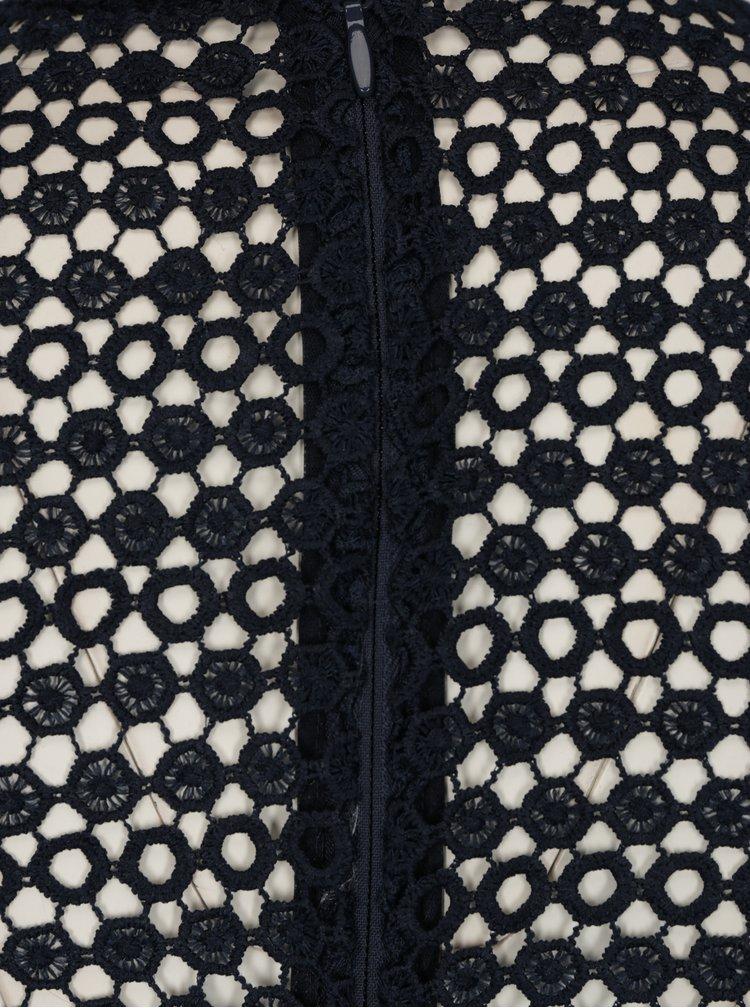 Krémovo-modré krajkové šaty Chi Chi London Asenia